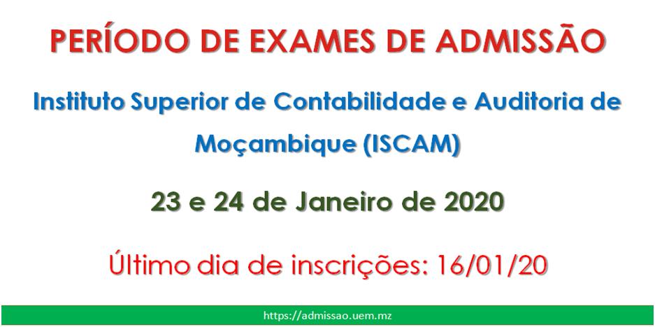 Período Exames ISCAM